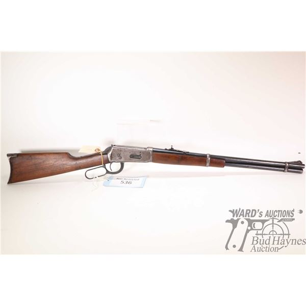 """Non-Restricted rifle Winchester model 1894, 32 Win Spl lever action, w/ bbl length 20"""" [Blued barrel"""