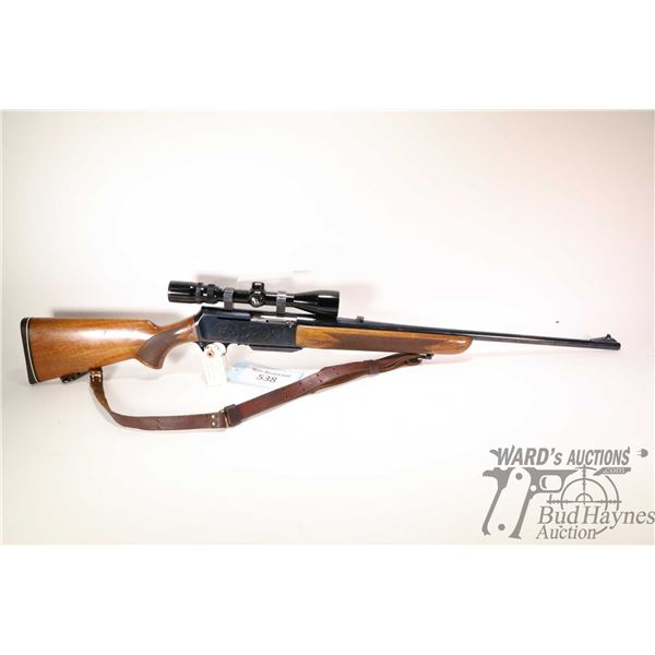 """Non-Restricted rifle Browning model BLR, 300 Win Mag semi automatic, w/ bbl length 24 1/2"""" [Blued ba"""