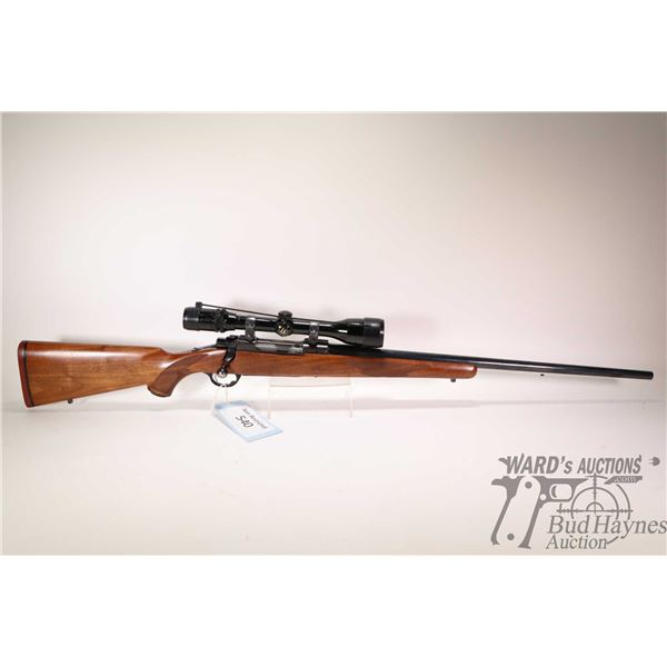 """Non-Restricted rifle Ruger model M77, 338 Win Mag bolt action, w/ bbl length 24"""" [Blued barrel and r"""