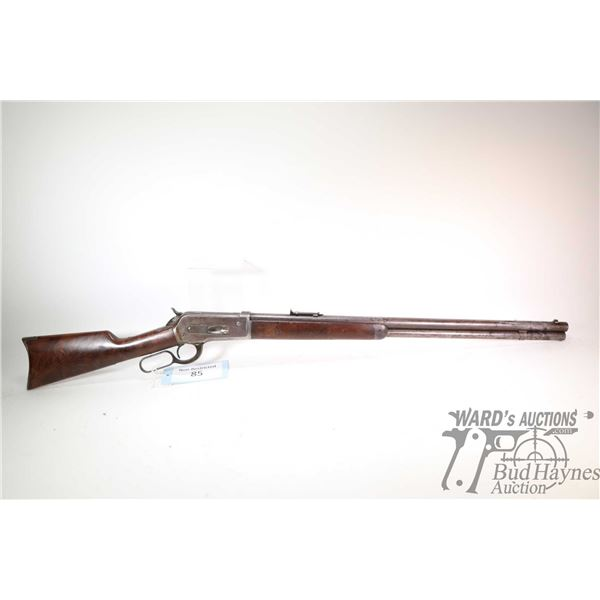 "Non-Restricted rifle Winchester model 1886, 45-70 Gov't lever action, w/ bbl length 26"" [Blued round"