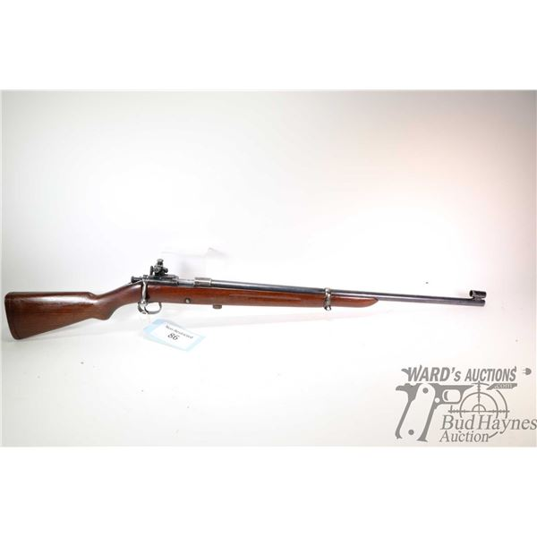 "Non-Restricted rifle Winchester model 52, 22LR bolt action, w/ bbl length 27"" [Blued barrel and rece"