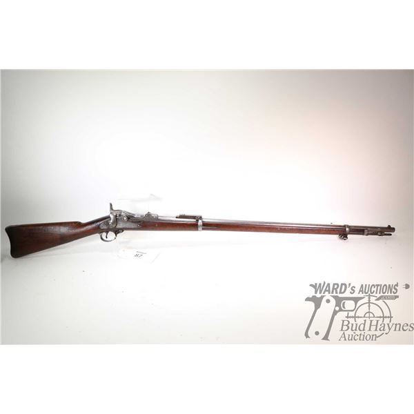 Non-Restricted rifle Springfield model 1884, 45-70 Gov't Single shot breech block, w/ bbl length 32