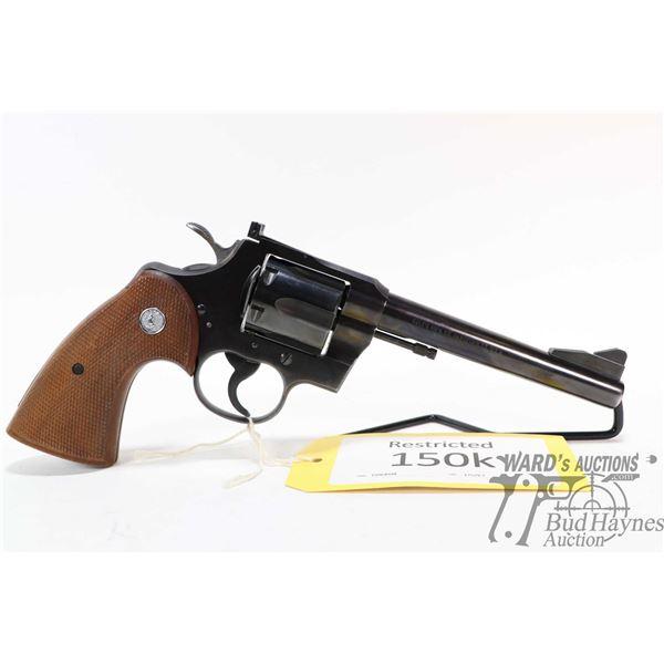 Restricted handgun Colt model 357, .357 Mag six shot double action revolver, w/ bbl length 152mm [Bl