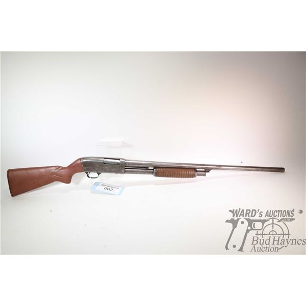 "Non-Restricted shotgun Stevens model 820B, 12Ga 2 3/4"" pump action, w/ bbl length 28"" [Blued barrel"