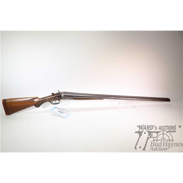 """Non-Restricted shotgun Janssen Sons & Co. model SXS, 12Ga two shot hinge break, w/ bbl length 30"""" [B"""