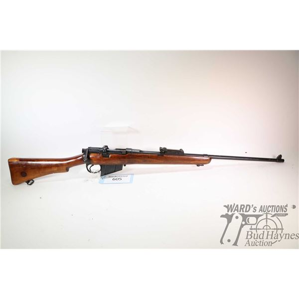 "Non-Restricted rifle Enfield model Sht LE III*, .303 Brit ten shot bolt action, w/ bbl length 25"" [B"