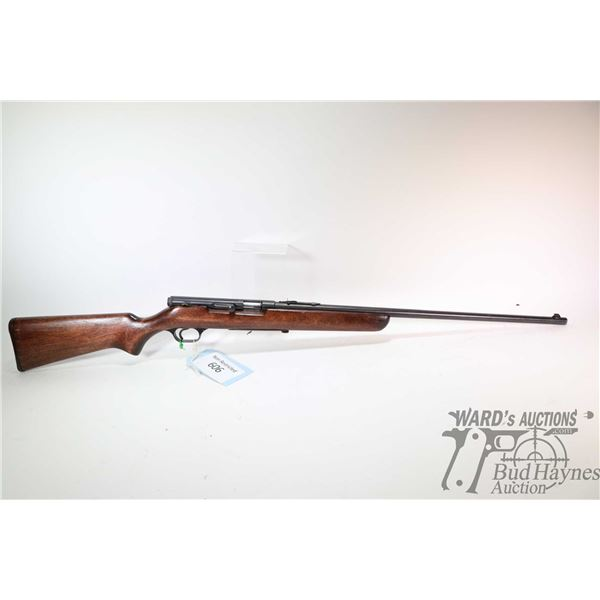 """Non-Restricted rifle Stevens model 85, 22LR No Mag bolt/semi automatic, w/ bbl length 23 3/4"""" [Blued"""