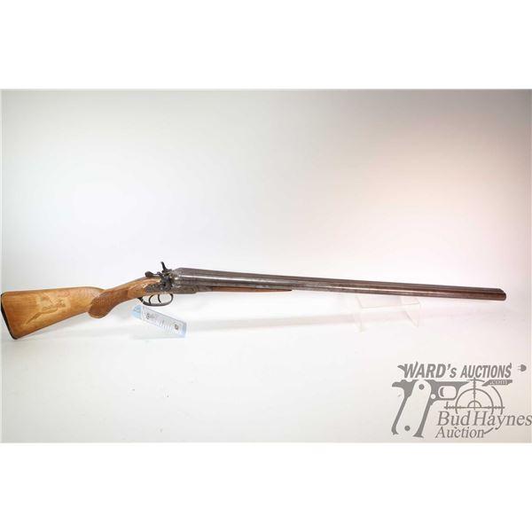 "Non-Restricted shotgun AGME ARMS Co. model SXS, 12Ga two shot hinge break, w/ bbl length 30"" [Blued"