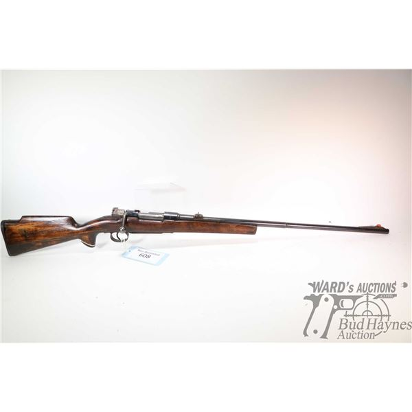 """Non-Restricted rifle Husqvarna model 1943, unknown bolt action, w/ bbl length 27"""" [Blued barrel and"""