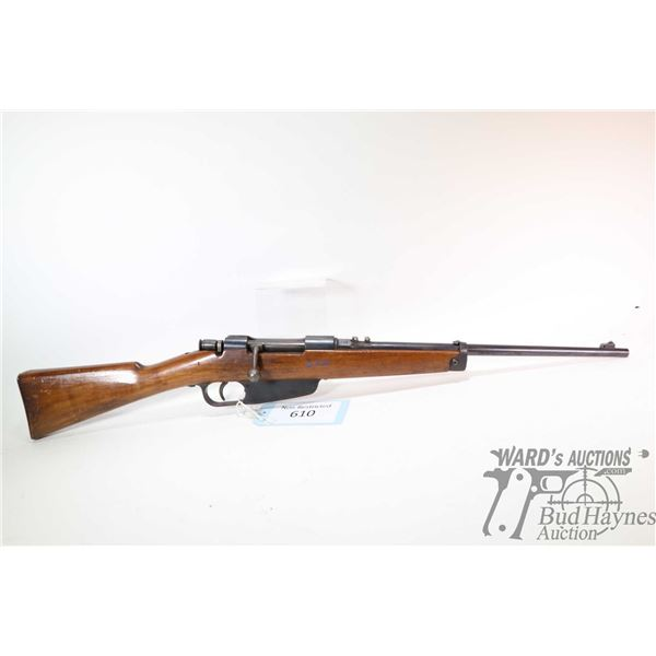"""Non-Restricted rifle Brescia model 1917 Carcano, 6.5X52 (unconfirmed) bolt action, w/ bbl length 18"""""""