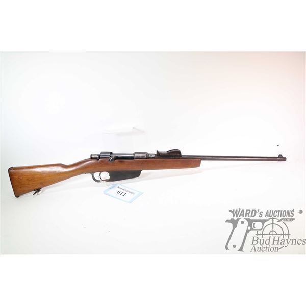"""Non-Restricted rifle Terni model 1891 Carcano (?), 6.5X52 (?) bolt action, w/ bbl length 20"""" [Blued"""