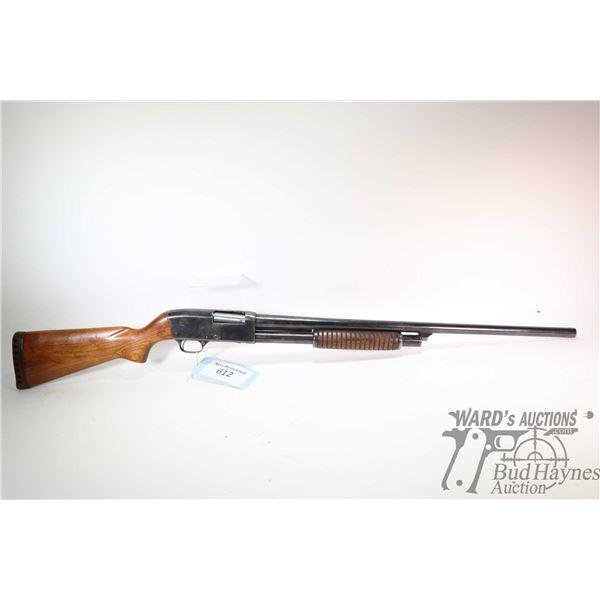 "Non-Restricted shotgun Stevens model 820B, 12Ga 2 3/4"" pump action, w/ bbl length 27"" [Blued barrel"