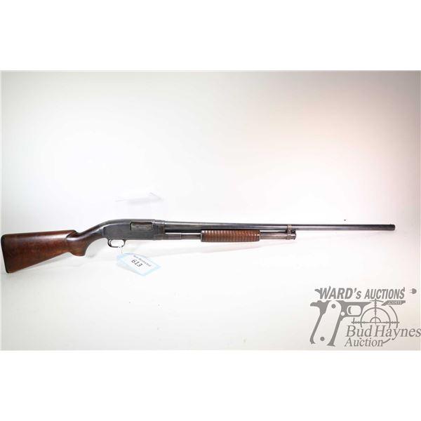 "Non-Restricted shotgun Winchester model 12, 12Ga 2 3/4"" pump action, w/ bbl length 30"" [Blued barrel"