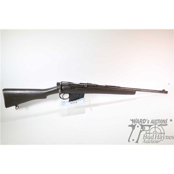 "Non-Restricted rifle Enfield model Sht LE III*, 303 Brit ten shot bolt action, w/ bbl length 18 1/2"""