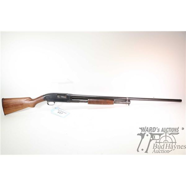 """Non-Restricted shotgun Winchester model 12, 12Ga 2 3/4"""" pump action, w/ bbl length 32' [Blued fixed"""