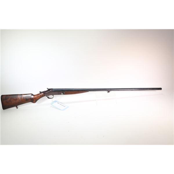 "Non-Restricted rifle H&R 20Ga single shot hinge break, w/ bbl length 32"" [Blued unknown fixed choke"