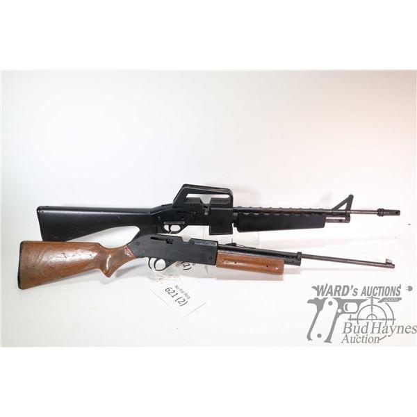 "No Pal Req. air rifles Crossman model AIR 17, .177 pump action, w/ bbl length 17"" & 19"" [Two Crossma"