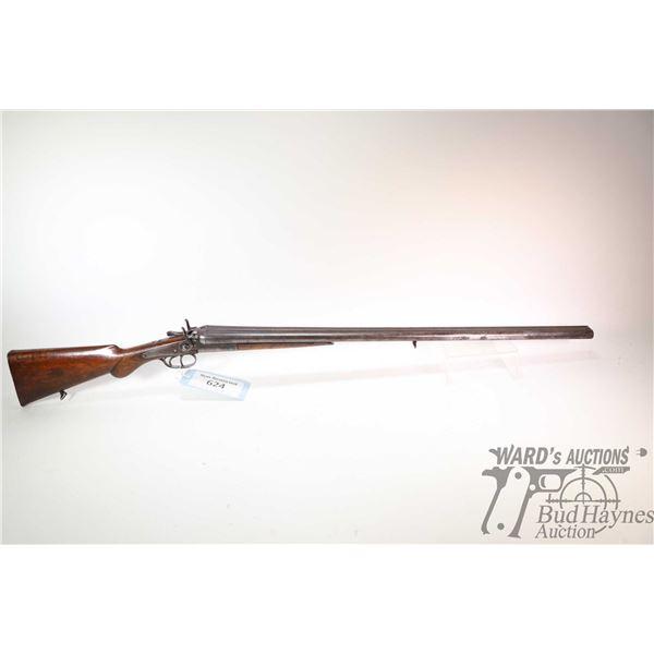 Non-Restricted shotgun Liege United Arms Co. model SXS, .16 GA two shots hinge break, w/ bbl length