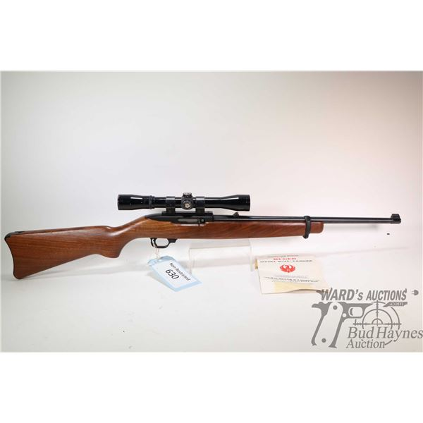 """Non-Restricted rifle Ruger model 10/22, .22 LR ten shot semi automatic, w/ bbl length 18 1/2"""" [Blued"""