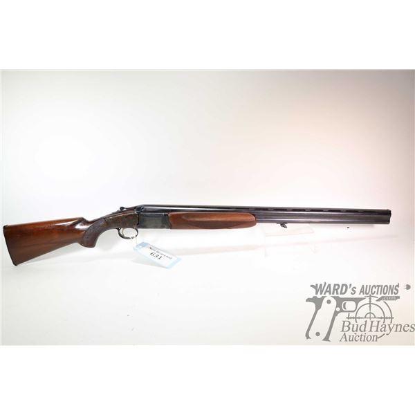 """Non-Restricted shotgun Nikko model 5000, 12Ga 2 3/4"""" two shot hinge break, w/ bbl length 28"""" [Blued"""