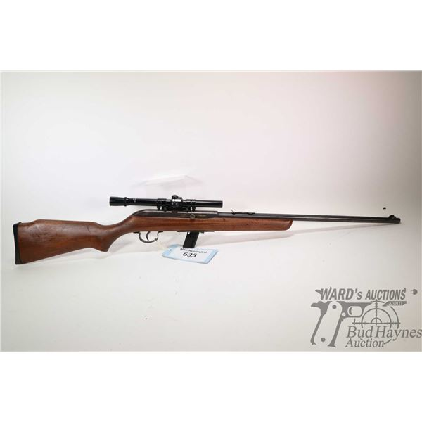 "Non-Restricted rifle Hiawatha model Semi Auto Repeater, 22LR semi automatic, w/ bbl length 20"" [Blue"