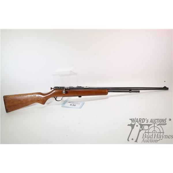 """Non-Restricted rifle Cooey model 60, 22 S-L-LR bolt action, w/ bbl length 23 1/2"""" [Blued barrel and"""