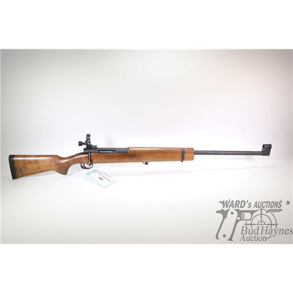 Non-Restricted rifle Musgrave model Target, .308 Win single shot bolt action, w/ bbl length 26 1/2""