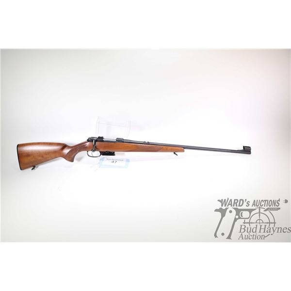 "Non-Restricted rifle CZ model 527, 22 Hornet bolt action, w/ bbl length 23 1/2"" [Blued barrel and re"