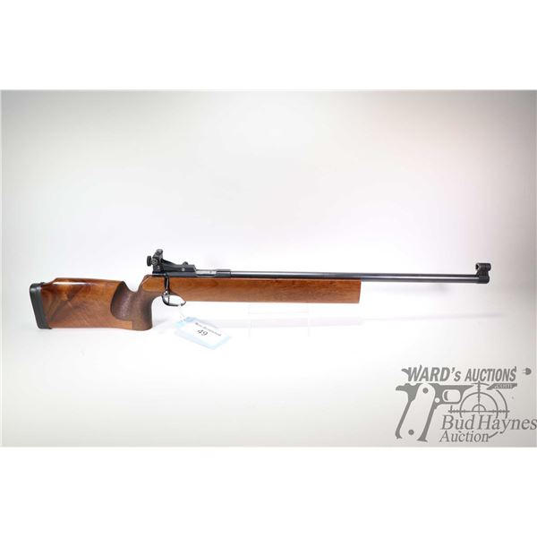 Non-Restricted rifle Walther model Target, 22LR Single Shot bolt action, w/ bbl length 25 1/2  [Blue