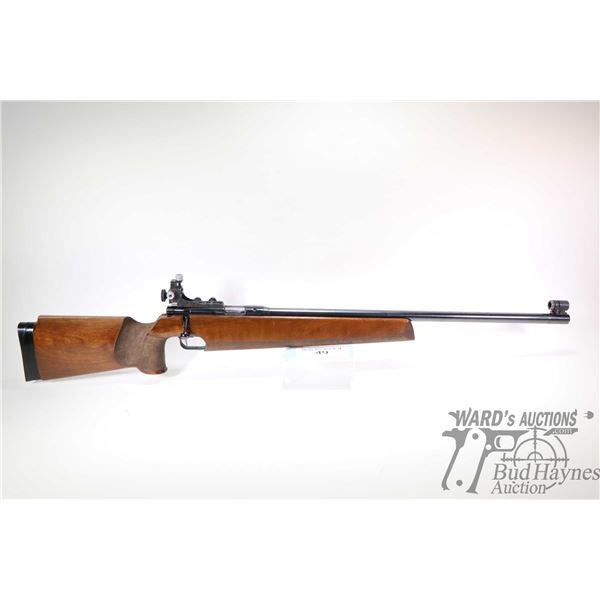 "Non-Restricted rifle Anschutz model Match 54, 22LR Single Shot bolt action, w/ bbl length 26"" [Blued"