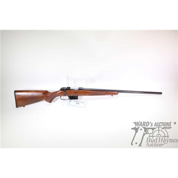 "Non-Restricted rifle CZ model 527 Varmint, .17 Rem bolt action, w/ bbl length 24"" [Blued barrel and"