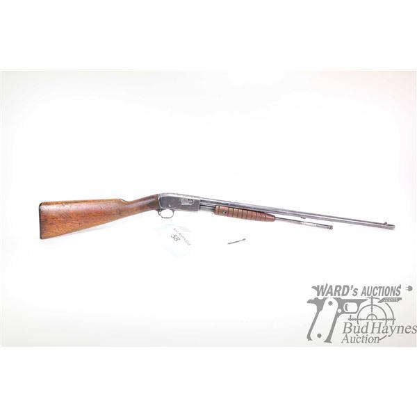 "Non-Restricted rifle Remington model 12-A, 22LR pump action, w/ bbl length 22"" [Blued barrel and rec"