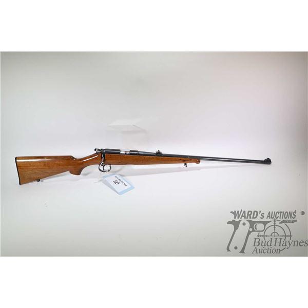 "Non-Restricted rifle BRNO model Mod 1, 22LR No Mag bolt action, w/ bbl length 23"" [Blued barrel and"