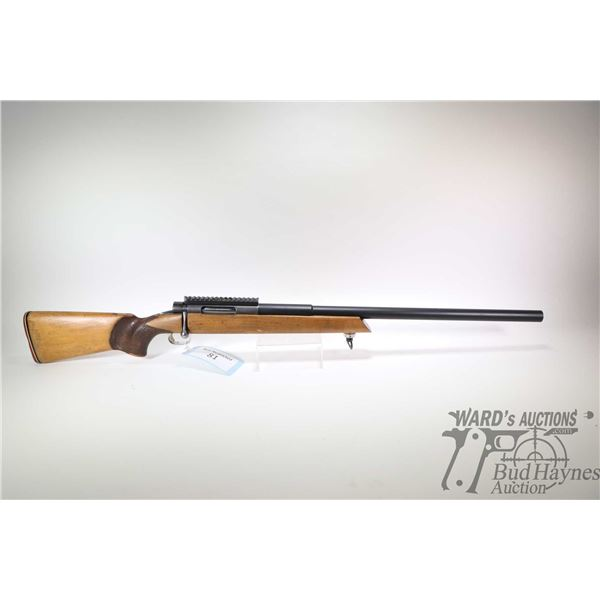 Non-Restricted rifle Musgrave model Target Custom, 30-06 Ackley Improved Single Shot bolt action, w/