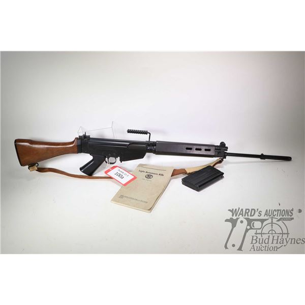 Prohib 12-3 rifle FN FAL/L.A.R model 308 Semi-Auto Rifle, 308 cal five shot semi automatic, w/ bbl l