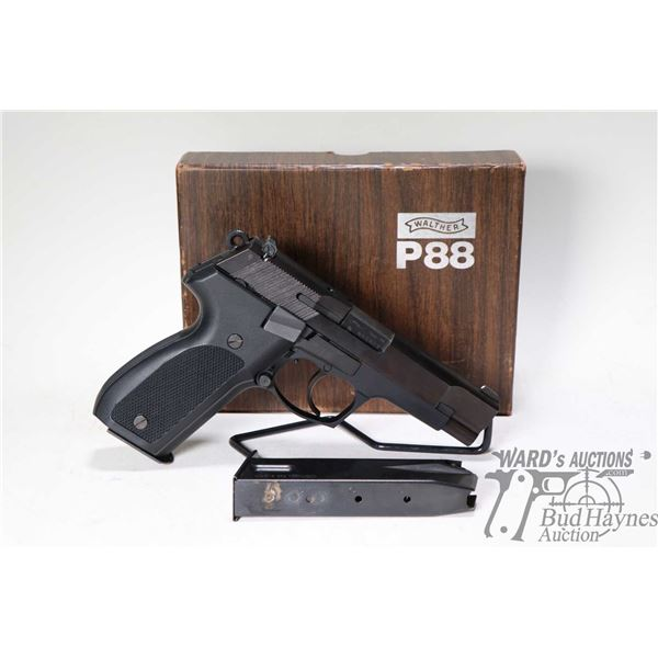 Prohib 12-6 handgun Walther model P88, 9MM ten shot semi automatic, w/ bbl length 101mm [Blued finis
