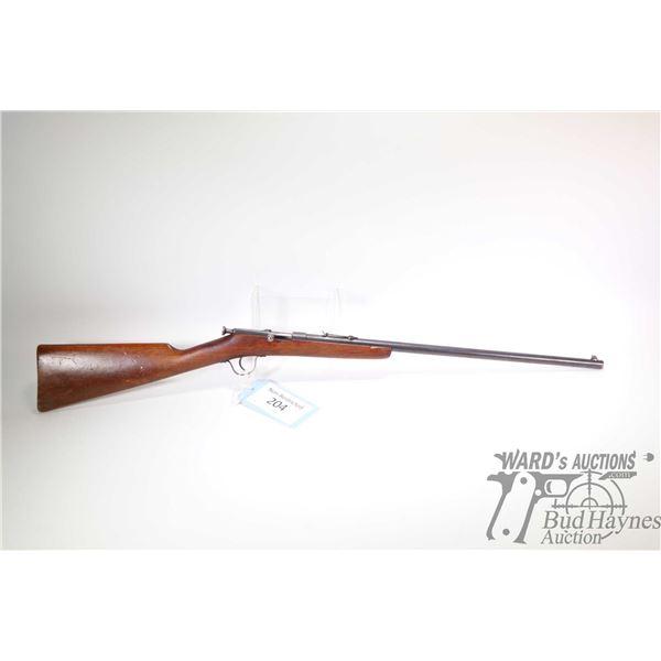 "Non-Restricted rifle FN model Sporter, .22 cal single shot bolt action, w/ bbl length 20 3/4"" [Blued"