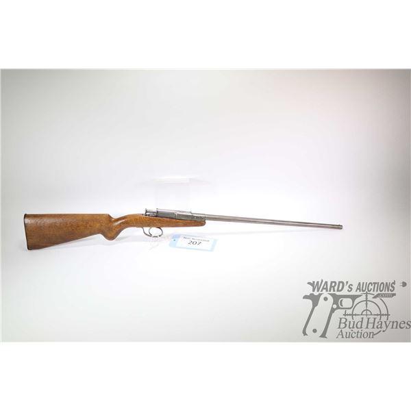Non-Restricted shotgun Deutsche Werke model Model I, 9mm rim fire single shot breech block, w/ bbl l