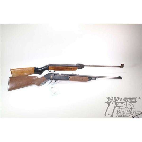 Non-Restricted two air rifles Crossman and Baikal model 66C and ??-38?, .177 and .177 and BB single