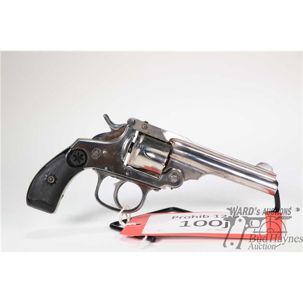 Prohib 12-6 handgun TAC model S&W Top Break Copy, .38 S&W five shot double action revolver, w/ bbl l