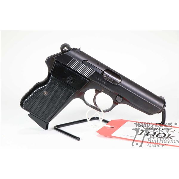 Prohib 12-6 handgun CZ model Vzor 70, 7.65mm eight shot semi automatic, w/ bbl length 95mm [Blued fi