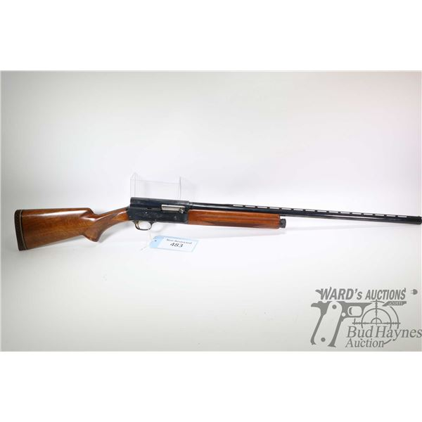 "Non-Restricted shotgun Browning model A5 Magnum Twenty, 20Ga 3"" semi automatic, w/ bbl length 27"" [B"