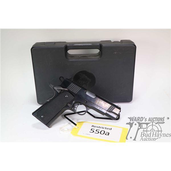 Restricted handgun Norinco model M1911A1C, 45 ACP eight shot semi automatic, w/ bbl length 109mm [Bl