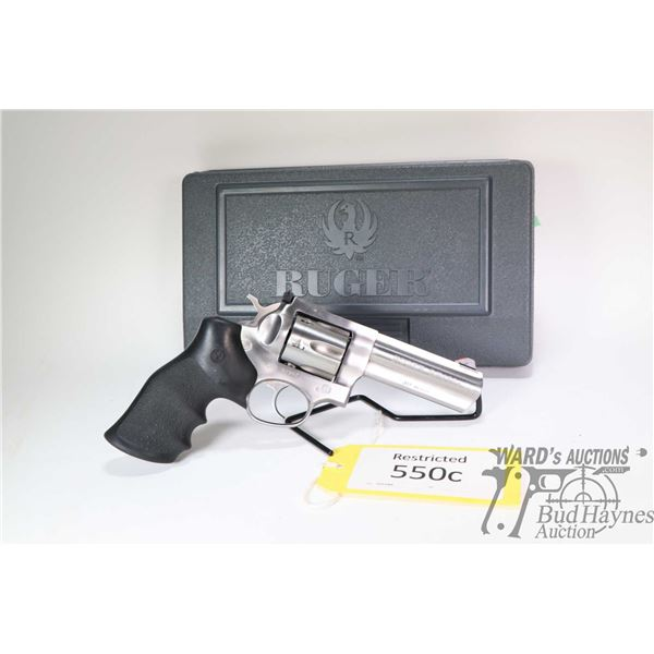 Restricted handgun Ruger model GP100, .357 Mag. six shot double action revolver, w/ bbl length 107mm