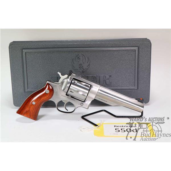Restricted handgun Ruger model Redhawk, .44 Mag six shot double action revolver, w/ bbl length 140mm