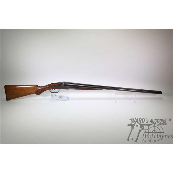 "Non-Restricted shotgun Lefever Arms Co. model SXS, 20Ga  2 3/4"" ? two shot hinge break, w/ bbl lengt"