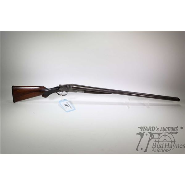 Non-Restricted shotgun Lefever Arms Co. model SXS, 12Ga ( unknown chamber) two shot hinge break, w/