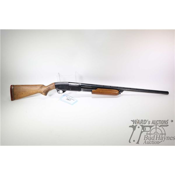 """Non-Restricted shotgun CIL model 621H, 12Ga 3"""" pump action, w/ bbl length 28"""" [Blued fixed improved"""