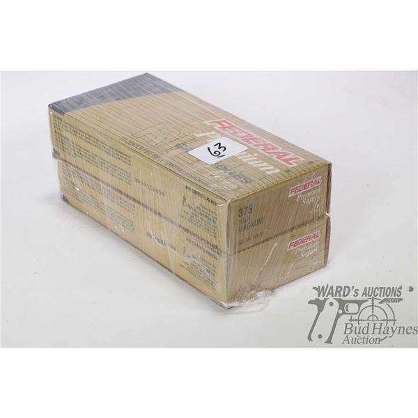 Two full 20 count box of Federal Premium Safari 375 H&H Magnum 300 grain solid ammunition
