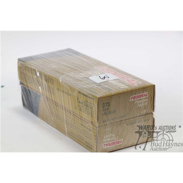 Two full 20 count boxes of Federal Premium Safari  300 grain Trophy bonded ammunition